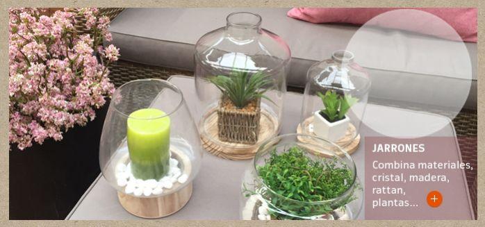 Combina materiales en tus decoraciones.