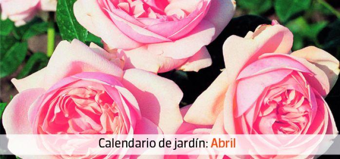 Calendario jardín abril