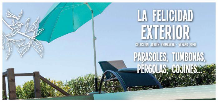 parasoles, tumbonas, cojines, muebles jardín
